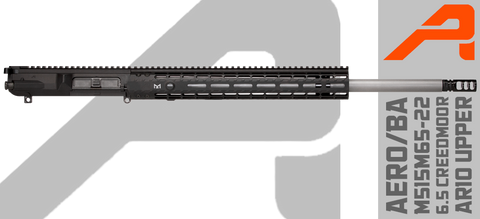 "Aero/Ballistic Advantage 22"" 6.5 Creedmoor AR10 Upper Receiver - M515M65-22"