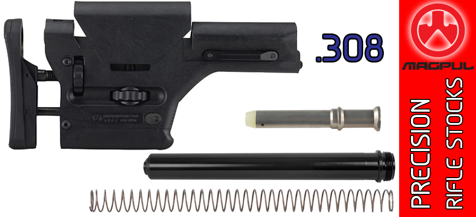 Magpul PRS Precision Adjustable SR25 / M110 AR .308 Stock Kit - Black