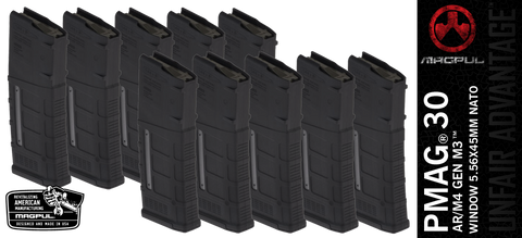 Magpul PMAG® 30 AR/M4 GEN M3™ WINDOW 5.56X45MM NATO - 10 PACK