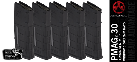 Magpul PMAG® 30 AR/M4 GEN M3™ WINDOW 5.56X45MM NATO - 5 PACK
