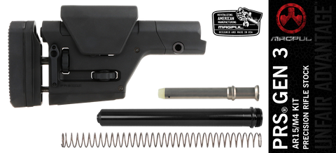 Magpul PRS® GEN3 Precision Adjustable AR-15 Rifle Stock Kit - Black