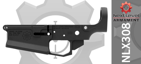 Next Level Armament NLX308 Stripped Billet AR10 Lower Receiver