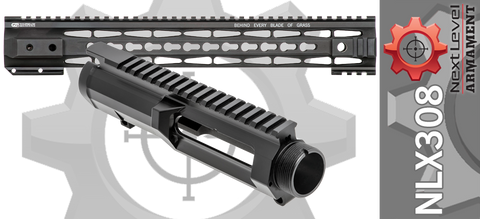 "Next Level Armament NLX308 Billet Upper Receiver & Tac-Hunter 15.5"" Keymod Handguard Set - Black"