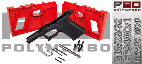 Polymer80 PF940Cv1 Ready Mod Compact 80% Lower For Glock® 19/23/32 - Black
