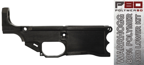 Polymer80 Warrhogg 80% .308 Lower Receiver & Completion Jig System - Black