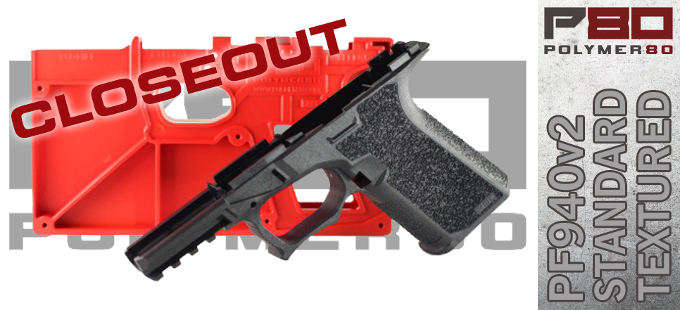 Polymer80 PF940v2 Textured Compact 80% Lower For Glock