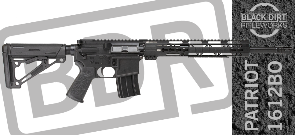 Black Dirt Rifleworks Patriot 1612BO 300 Blackout AR15 Rifle