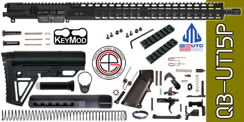 "Quick Build .223 / 5.56 AR-15 Kit with Complete 15"" UTG-PRO KEYMOD Free-Floated Upper Receiver (QB-UT15P) - FREE SHIPPING"