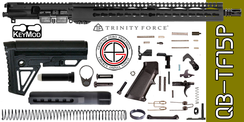 "Quick Build .223 / 5.56 AR15 Kit with Complete 15"" KEYMOD Free-Floated Upper Receiver (QB-TF15P) - FREE SHIPPING"