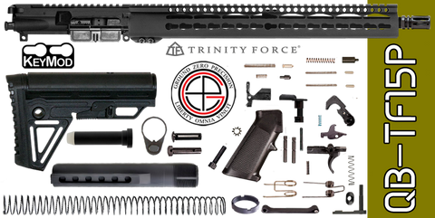 "Quick Build .223 / 5.56 AR-15 Kit with Complete 15"" KEYMOD Free-Floated Upper Receiver (QB-TF15P) - FREE SHIPPING"