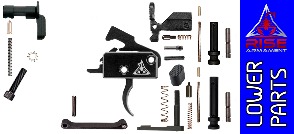 Enhanced Parts Kit for DPMS Profile AR .308 Lower Receivers with Rise Armament RA-140 Trigger