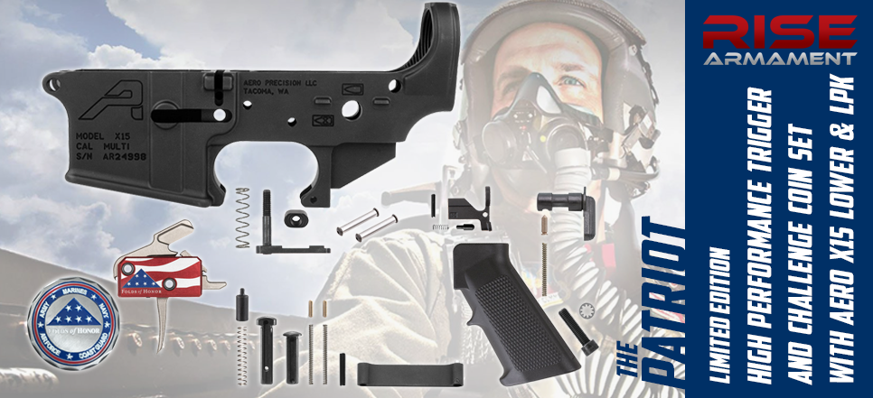 RISE Armament Folds of Honor Patriot Trigger Aero X15 AR-15 LPK