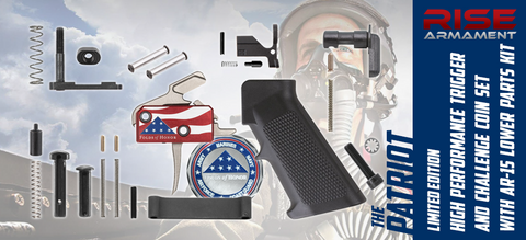 "LIMITED EDITION - RISE Armament ""Patriot"" Drop-In AR Trigger, Challenge Coin Set & AR-15 LPK - Benefiting Folds of Honor Foundation"