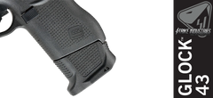 Strike Industries Enhanced Magazine Plate for Glock 43 - Black
