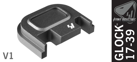 Strike Industries Push Button Slide Cover Plate for Glock - V1 - Grey