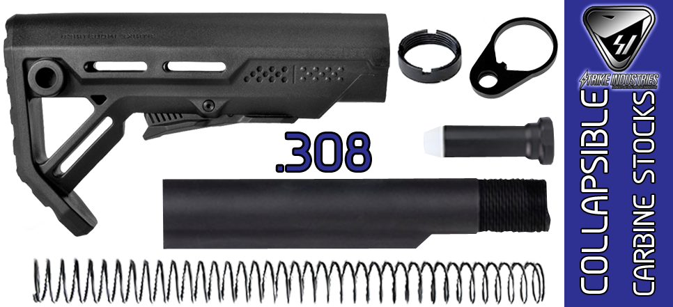 Strike Industries Viper LR308, AR .308 Stock Kit - Black / Black