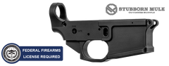 Stubborn Mule SM-15 Stripped Billet AR15 Lower Receiver