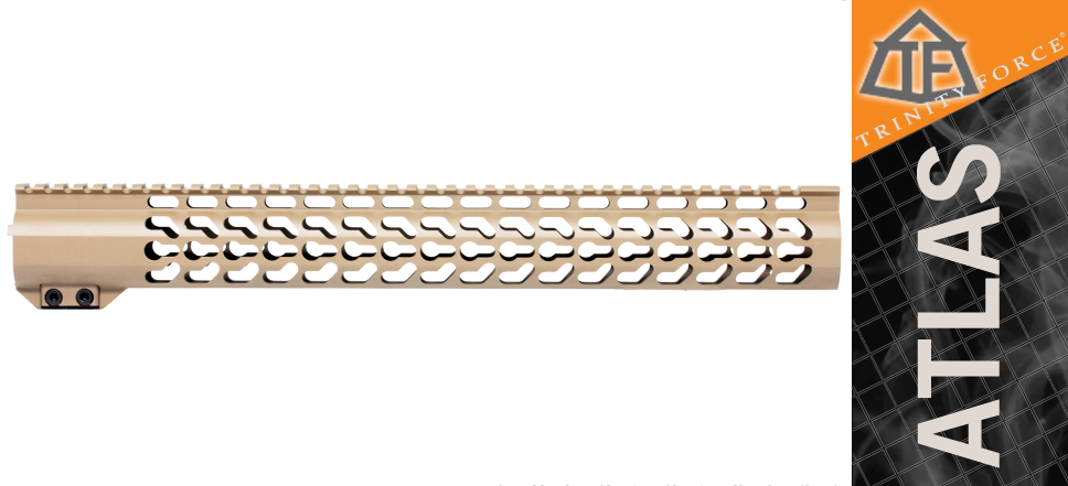 "16.5"" DPMS High Profile Free Float Keymod Handguard FDE"