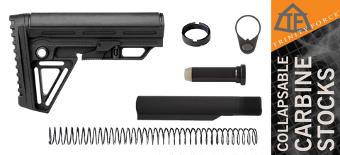 Trinity Force Alpha Mil-Spec Carbine LR308 & AR .308 Stock Kit - Black