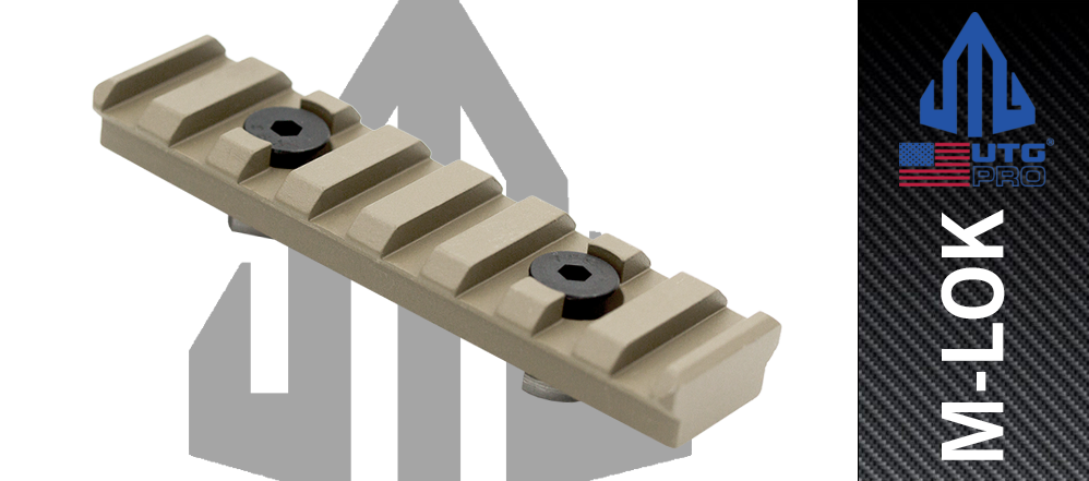 UTG PRO 8 Slot FDE M-LOK™ Picatinny Rail Section MTURS09MD