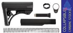 UTG PRO Model 4 Ops Ready Mil-spec Adjustable AR15 Carbine Stock Kit - BLACK