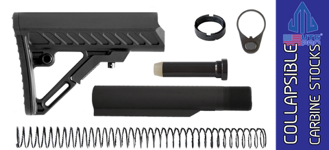 UTG PRO Model 4 S2 Mil-spec Adjustable AR Carbine Stock Kit - BLACK on BLACK