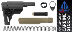 UTG PRO Ops Ready S4 Mil-spec AR Stock Kit Black FDE