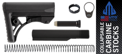 UTG PRO Model 4 Ops Ready Mil-spec Adjustable AR-15 Carbine Stock Kit - BLACK