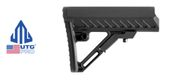 UTG PRO Model 4 S2 Mil-spec Adjustable AR Carbine Stock Kit - BLACK on FDE