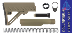 UTG PRO Model 4 S2 Mil-spec Adjustable AR Carbine Stock Kit - FDE on FDE