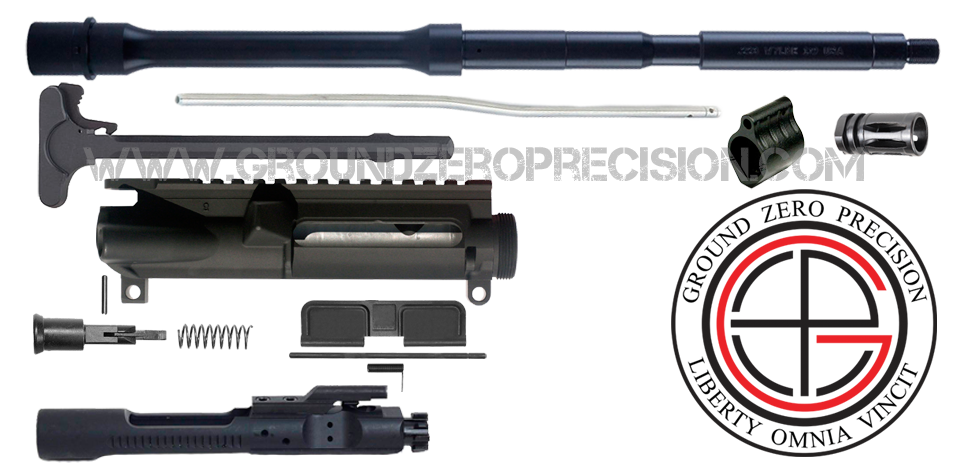 "DIY 16"" Parkerized .223 / 5.56 M4 Upper Receiver Project Kit - FREE SHIPPING"