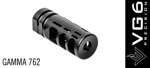 VG6 Precision Gamma 762 High Performance Muzzle Break - 5/8 x 24
