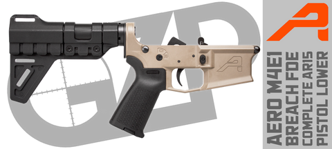 Aero M4E1 Breach FDE Complete AR15 Pistol Lower Receiver