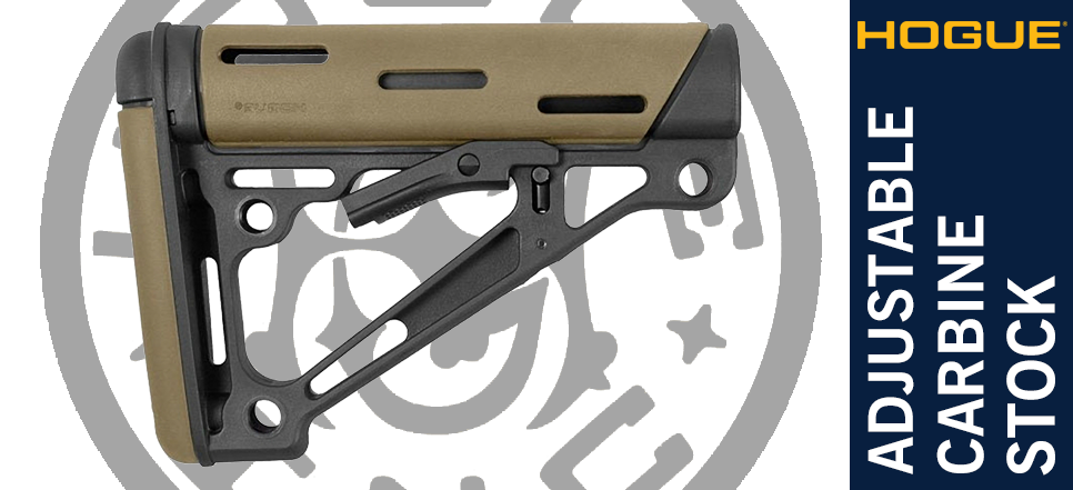 Hogue AR Stock - Desert Sand Tan FDE