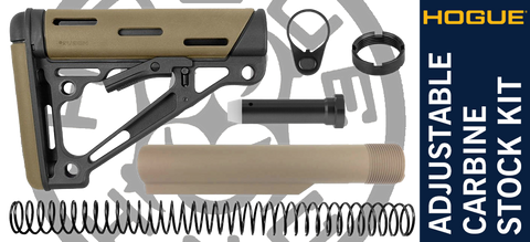 Hogue Overmolded® Collapsible Carbine AR-15 Stock Kit - Desert Tan / Tan
