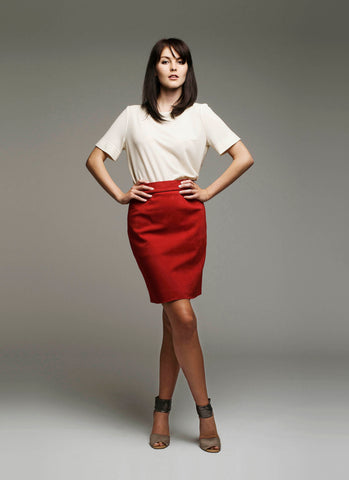 Mona skirt in genuine reindeer suede