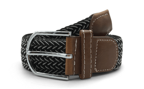 The Otto Black & White Canvas Belt