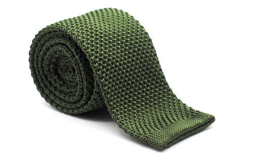 The Steadman Olive Green Knit Tie
