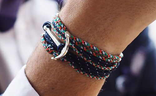 The Conrad paired with The Chuck men's rope bracelets