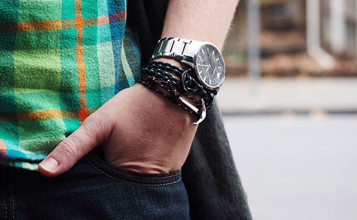 Paired with a watch, The Conrad makes a great casual look