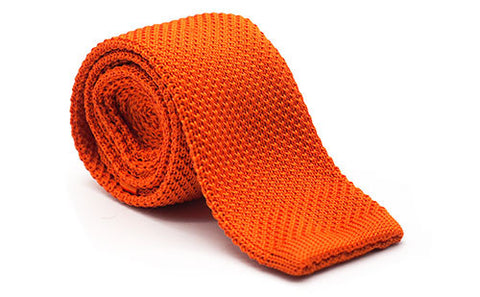 The Steadman Orange Knit Tie