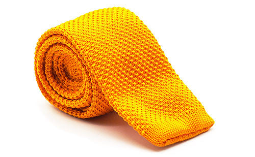 The Steadman Yellow Knit Tie