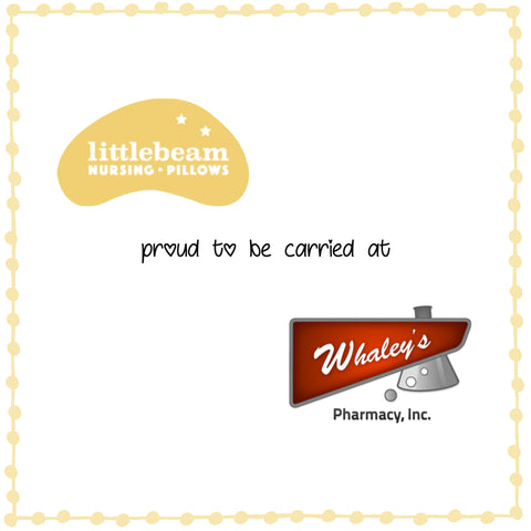 littlebeam nursing pillows carried at Whaley's Pharmacy