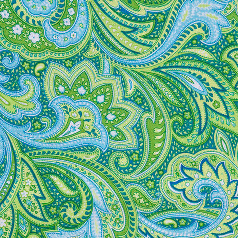 Green Paisley Extra Slipcover - Littlebeam Nursing Pillow