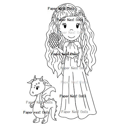 Princess Ellie with Dragon