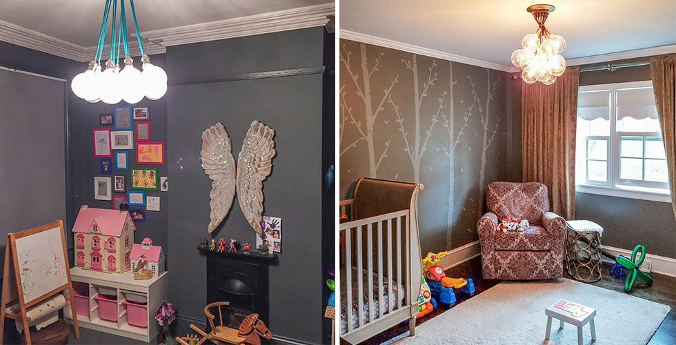 kid room lighting fixture installation