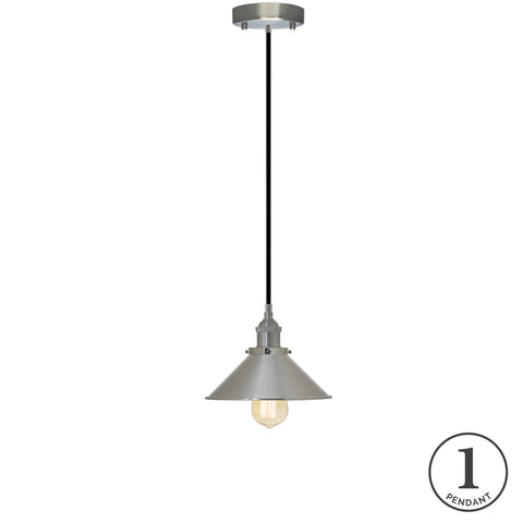 Pendant Light - Black and Nickel
