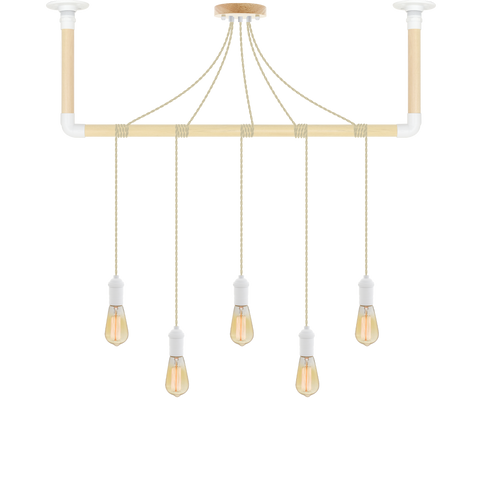 Wrap Chandelier - Beige and White