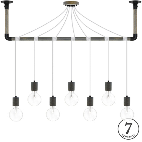 Wrap Chandelier - White, Grey and Black
