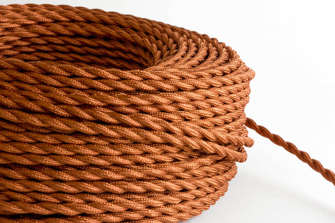 Rust Twisted Fabric Cord by the Foot